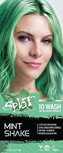 Splat 10 Wash No Bleach (Mint Shake) (Hair Dye Mint)