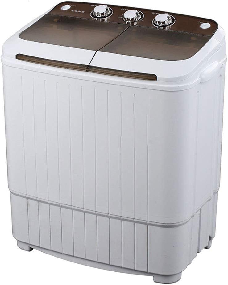 ELEXERT Lavadora Portatil,Mini Lavadora,de 5.0 KG /8.0 KG de Capacidad Total Combinada y Secadora Automatica Bajo Consumo Silencioso Combo Compacta para dormitorios de Camping Apartamentos,Brown