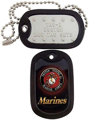 Marine Dog Tag Pendant - Military Dog Tags - Custom Embossed U.S.M.C. Military Dog Tag Set - Marines