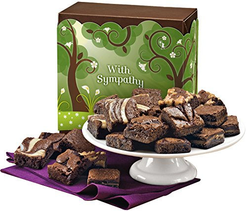 Fairytale Brownies Sympathy Magic Morsel 24 Gourmet Food Gift Basket Chocolate Box - 1.5 Inch x 1.5 Inch Bite-Size Brownies - 24 Pieces