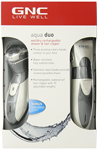 GNC GG-3420 Wet/Dry Rechargeable Shave & Clip by GNC
