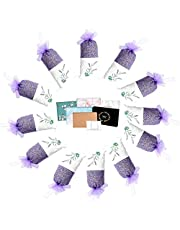 TooGet Lavender Sachets Dried Lavender Flowers Sachets, Lavender Scented Sachet Fresh Dried Lavender Bags - Pack of 6