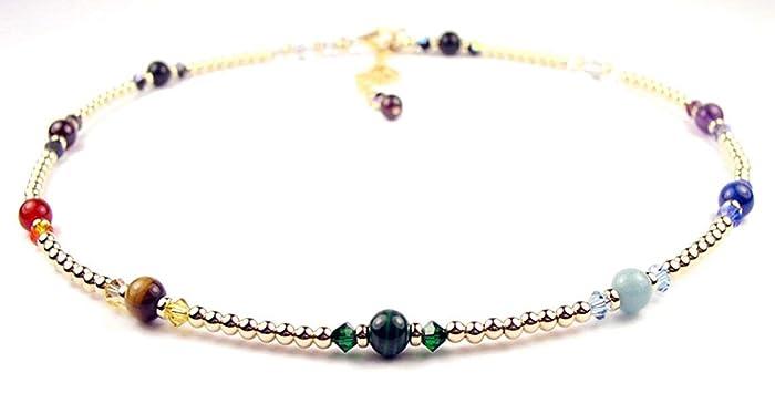 Amazon.com: DAMALI Gold Chakra Necklace Crystal Healing ...