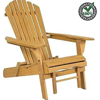 Amazoncom Folding Composite Adirondack Chair Brown Garden