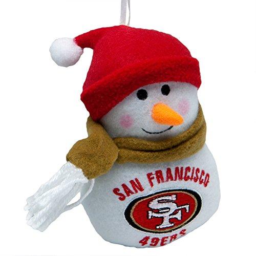 San Francisco 49ers - Plush Snowman (Nfl Plush Snowman Ornaments)