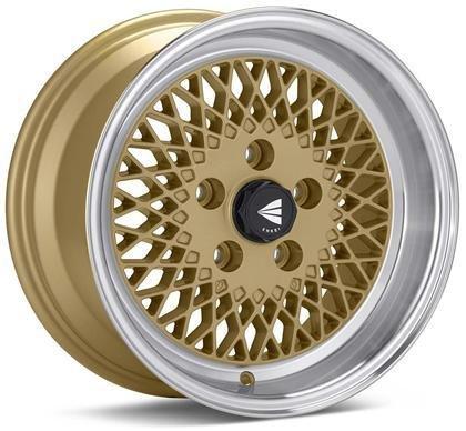 15×7-Enkei-ENKEI92-Gold-w-Machined-Lip-WheelsRims-4×100-465-570-4938GG