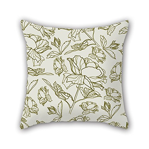 NICEPLW Flower Throw Pillow Covers 18 X 18 Inches / 45 By 45 Cm Best Choice For Couch,lover,son,deck Chair,lounge,home Office With Two Sides (Flower Shifter Knobs)