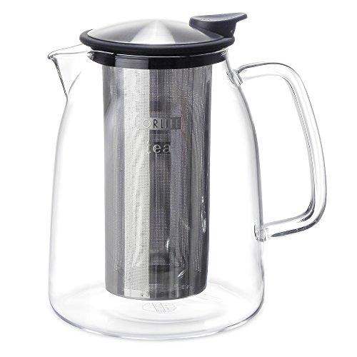 (FORLIFE Mist Iced Tea Jug with Basket Infuser, 68-Ounce, Black Graphite)