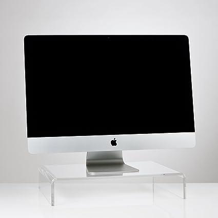 Alta calidad Crystal Clear acrílico TV/Monitor/portátil/soporte para pantalla LCD pantalla de ordenador Riser zócalo puente (varios tamaños), color transparente 300mm x 300mm x 100mm: Amazon.es: Oficina y papelería