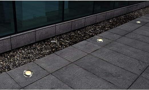 Foco suelo lámpara lámparas empotrables de suelo (Juego de 3 para jardín patio vía Terraza: Amazon.es: Iluminación