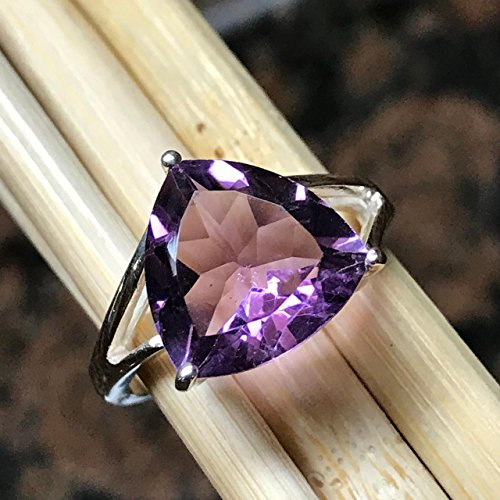 (Natural 4ct Natural 2.5ct Rose De France Amethyst 925 Sterling Silver Ring sz 8)