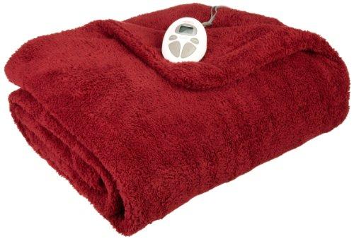 Sunbeam Heated Blanket | LoftTec, 10 Heat Settings, Garnet, Full