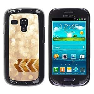 Be Good Phone Accessory // Dura Cáscara cubierta Protectora Caso Carcasa Funda de Protección para Samsung Galaxy S3 MINI NOT REGULAR! I8190 I8190N // Sparkle Bling Minimalist Sunny S