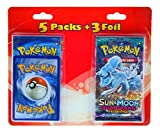 Pokemon TCG: 5 Booster Packs + 3 Random Foils | Value Pack Includes 5 Blister Packs of Random Cards & 3 Individually Packed Foil Cards | 53 Cards Total | 100% Authentic Branded Pokemon Expansion Packs