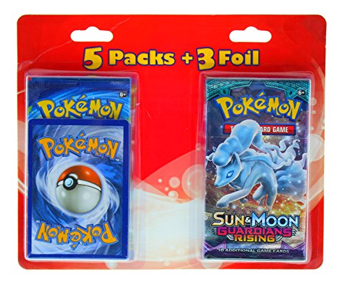 Foil Pearl Card Promo (Pokemon Random Series Cards, Varies, 5 Pack + 3 Foil)