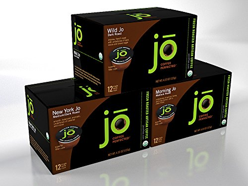 Singlecup Jo Variety Pack  36 Cup Single Serve Coffee Pods For Keurig K Cup Brewers  Keurig 1 0   2 0 Eco Friendly Cup  Great Coffee Gift   Includes Wild Jo  New York Jo  Morning Jo