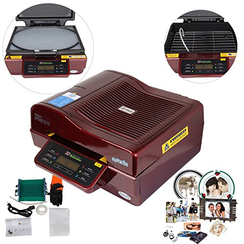 Iglobalbuy 110V 3D Sublimation Vacuum Heat Press Machine For Phone Cases Mugs Plate 2800W