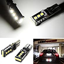 iJDMTOY Super Bright 5W High Power SMD 912 921 T10/T15 LED Backup Reverse Light Bulbs, Xenon White
