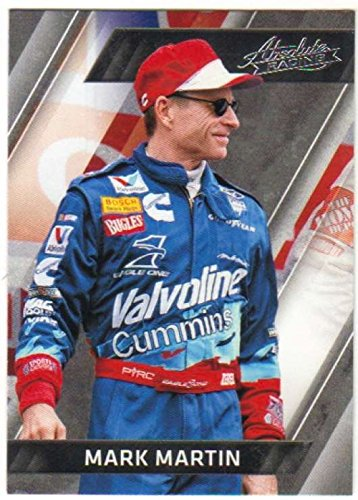 2017 Panini Absolute Racing #19 Mark Martin Valvoline/Roush Racing/Ford Official NASCAR Trading Card