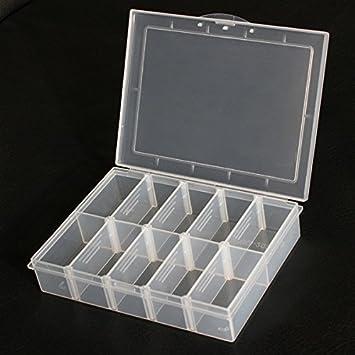 ChaRLes 10 Compartimentos Almacenamiento Plástico Ajustable Caja De Herramientas Electrónica: Amazon.es: Bricolaje y herramientas