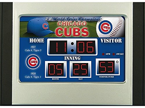 Mlb Scoreboard Clock (Chicago Cubs Scoreboard Desk & Alarm Clock)
