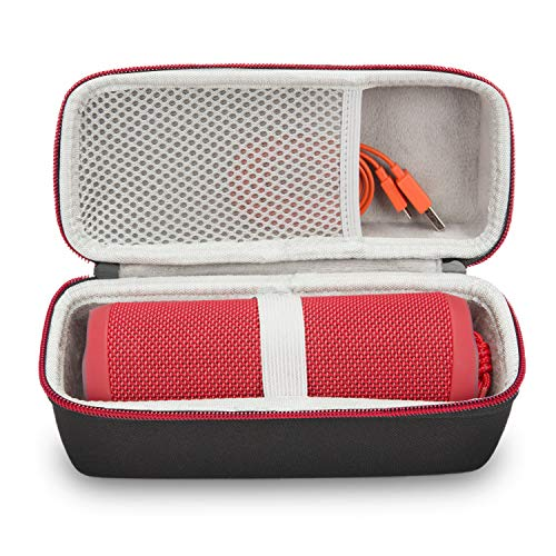 JONGEN Case for JBL Flip 3/4 Bluetooth Speaker, Hard Travel Storage Carrying Case, Wireless Waterproof Portable Speaker Bag, Black