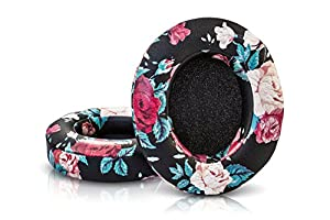 Wicked Cushions Beats Replacement Earpads - Compatible with Studio 2.0 Wired / Wireless Over Ear Headphones by Dr. Dre ONLY ( DOES NOT FIT SOLO 2.0 ) | Black Floral