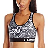 Women's HeatGear Armour Printed Mid, Black (004), Large