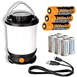 Fenix CL30R 650 Lumen Rechargeable LED Camping Lantern with 3x 18650 Batteries included & 6x LumenTac CR123A Batteries