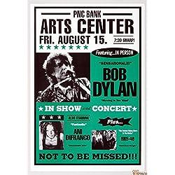 Bob Dylan 1997 Summer Tour Poster 1997 Aug 15 Holmdel NJ w/ Ani DiFranco BR5-49 15x22