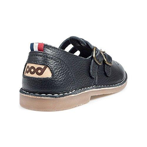 POD Pod Heritage Ladies Marley Black T-Bar Sandals UK 5
