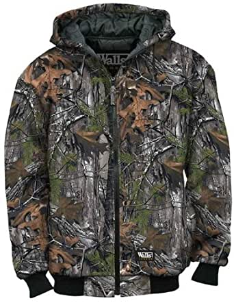 Walls Men's Legend Insulated Quilted Fleece Hooded Jacket,Real Tree,US S