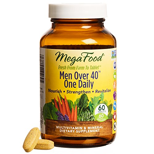 MegaFood - Men Over 40 One Daily, Promotes Immune Health & Well-being, 60 Tablets (FFP)