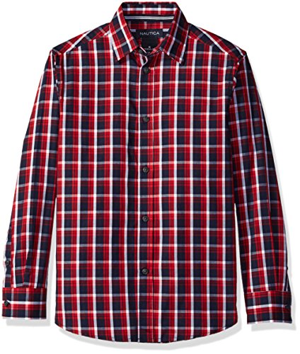 Nautica Little Boys Long Sleeve Bold Tartan Shirt,