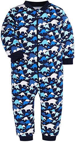 HONGLIN Baby Boys Pajamas Baby Dinasour Sleepers Cute Rompers 100% Cotton Pjs (9-12 Months)