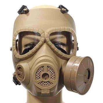 iBaste Máscara,careta,disfraz completa con ventilador y gafas /máscara de gas falsa