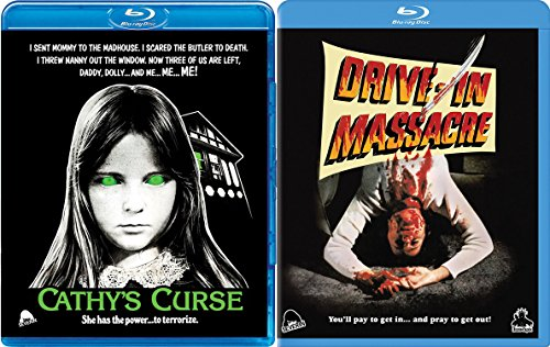 Cult Classic Horror Double Feature - Drive-In Massacre & Cathy's Curse 2-Blu-ray Bundle