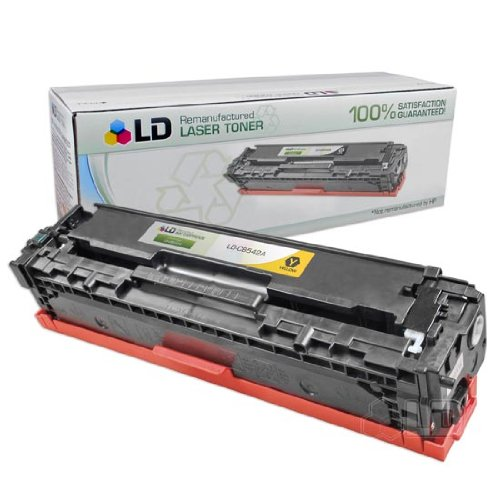 (LD Remanufactured Toner Cartridge Replacement for HP 125A CB542A (Yellow))