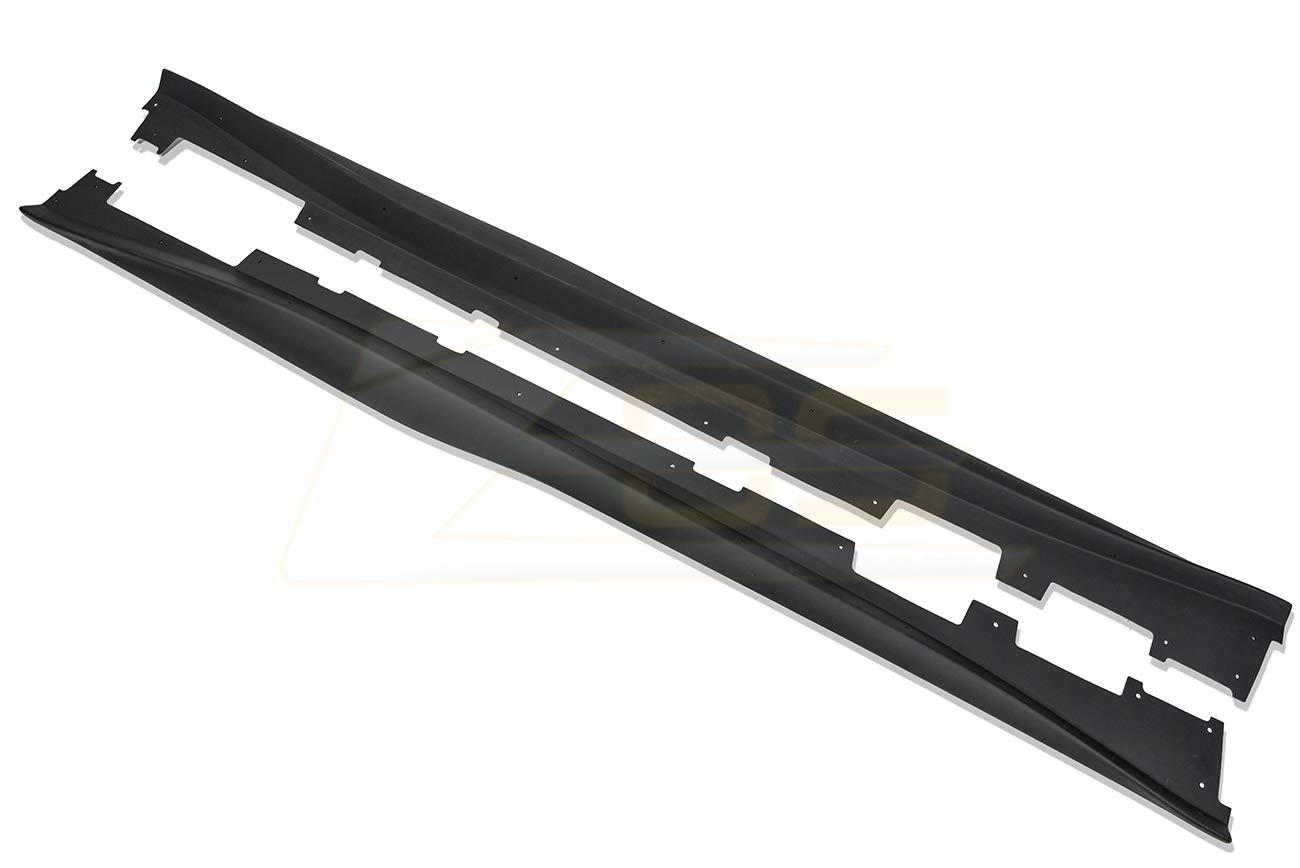 ABS Plastic - Primer Black For 2016-2018 Chevrolet Camaro SS ZL1 Style Front Bumper Lip Splitter With Side Skirts Rocker Panel Pair
