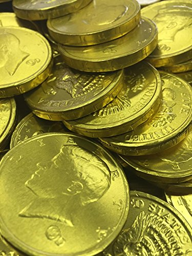 Chocolate Gold Coins Bulk - Chocolate Gold Coins, 1lb Bag