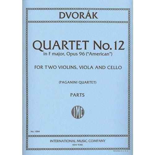 Dvorak, Antonin String Quartet No.12 in F Major Op. 96 American Two Violins, Viola & Cello Paganini