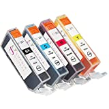 Sophia Global Compatible Ink Cartridge Replacement for Canon CLI-221 (1 Small Black, 1 Cyan, 1 Magenta, and 1 Yellow)