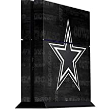 NFL Dallas Cowboys Playstation 4 PS4 Console Skin - Dallas Cowboys Black & White Vinyl Decal Skin For Your Playstation 4 PS4 Console