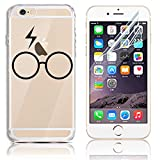 iPhone 6 Case,iPhone 6S Cases, Sunroyal Soft TPU Clear Silicone Gel Shock Proof Soft Durable Scratch Resistant Rubber Transparent Beautiful Colourful Pattern Design Protective Case Cover Skin Shell for iPhone 6 6S 4.7 inch + Free Screen Protector - Lighting