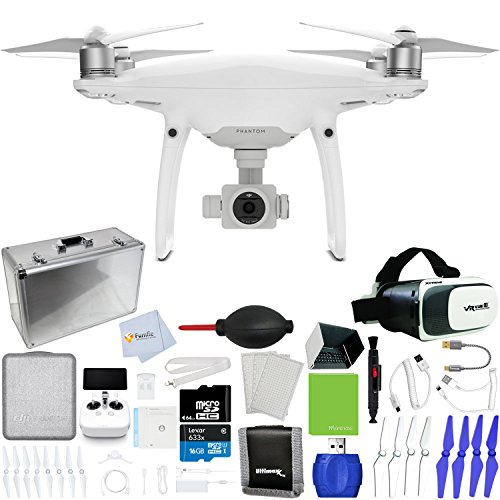 DJI-Phantom-4-Pro-Quadcopter-Xtreme-VR-Vue-II-For-iPhoneAndroid-Screen-Size-35-6-Hard-Shell-Aluminum-Case-Sunshade-Hood-Sunshade-Hood-for-Remote-Controller-Lens-Cleaning-Pen-More
