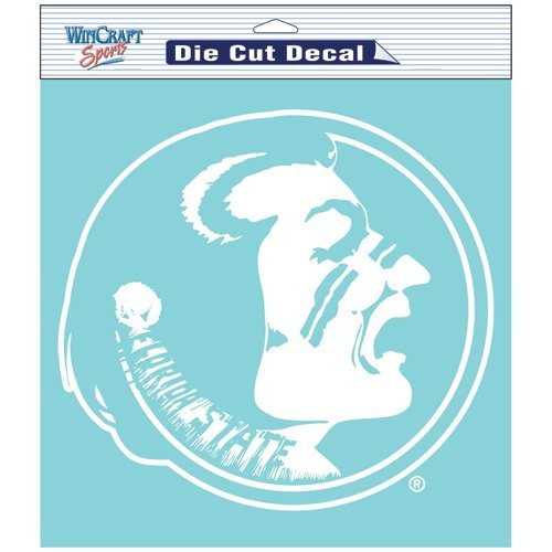 Florida State Seminoles NCAA Vinyl Die Cut Window Decal Auto Car Logo White 8x8 Sticker College Licensed Team Logo