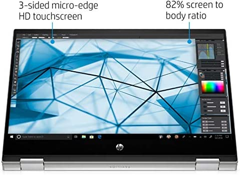 "HP 2020 Newest Pavilion X360 2-in-1 Convertible 14"" HD Touch-Screen Laptop, tenth Gen Intel Core i3-1005G1, 8GB Ram, 128GB Ssd, Wifi, Webcam, Win 10 S"