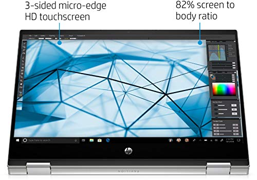 """Newest HP Pavilion x360 2-in-1 Convertible 14"""" HD Touch-Screen Laptop, 10th Gen Intel Core i3-1005G1(Up to 3.4GHz, Beat i5-7200U), 16GB RAM, 512GB SSD, Webcam, WiFi, HDMI, Win10, w/GM Accessories"""