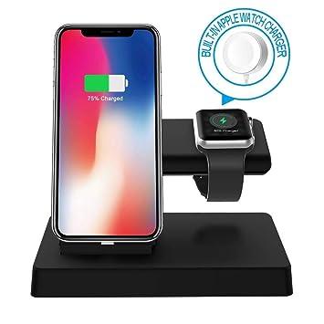 Zyx Soporte de Carga Compatible con Apple Watch 3 en 1 ...