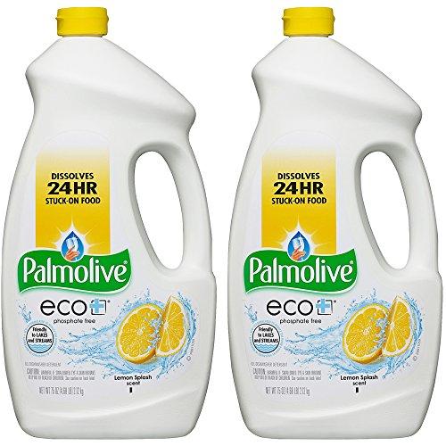 Palmolive Detergent Dishwashing (Palmolive Eco Gel Dishwasher Detergent, Lemon Splash, 75 Fl Oz, 2-Pack)